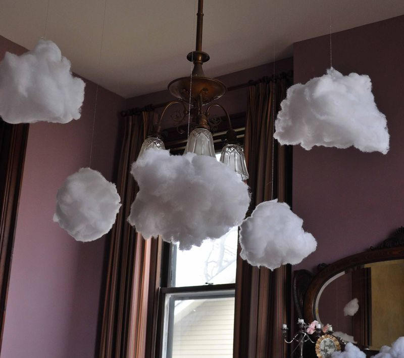 how to make puffy paint clouds