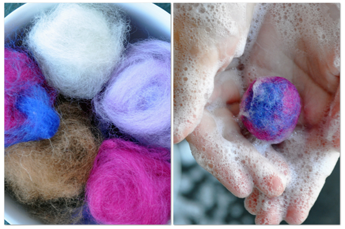 Beginner's Guide to Felting - wet felting with kids from Curly Birds