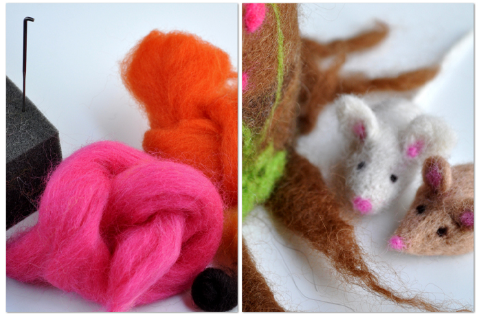 Beginner's Guide to Felting - needle felting from Curly Birds
