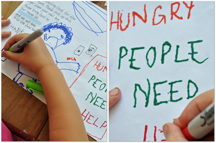 Host a Food Drive - Poster Making  by Curly Birds