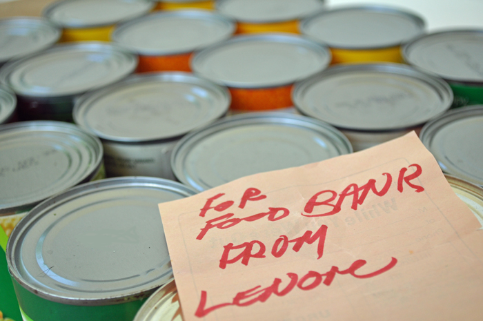 How to Host a Food Drive -Cans by Curly Birds