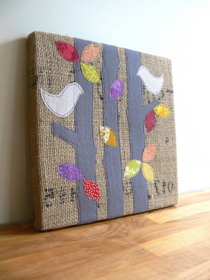 Handmade fro Newtown  Birds and Burlap