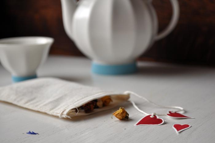 Tea Bag Hearts  By Curly Birds