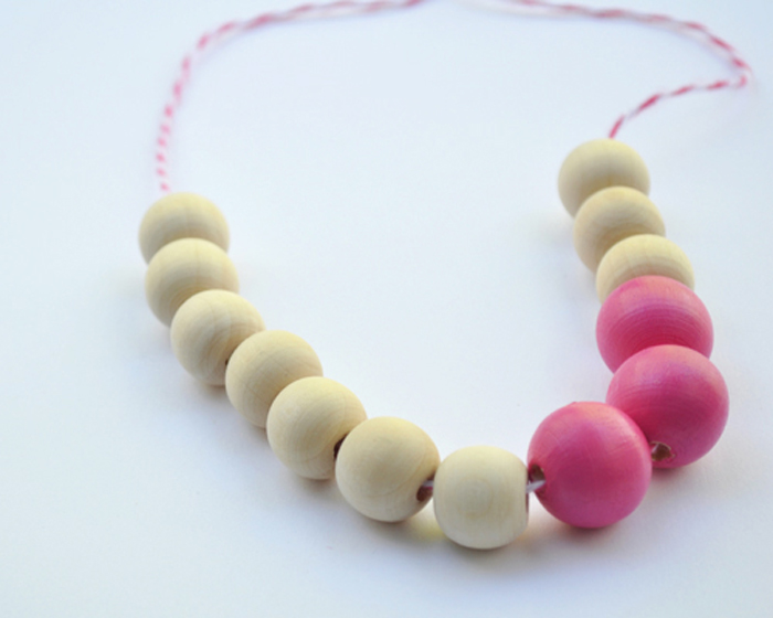 Wooden Necklace by Curly Birds