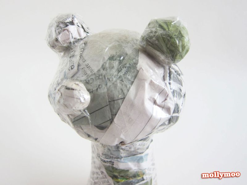 Papier-mache-frog-taped