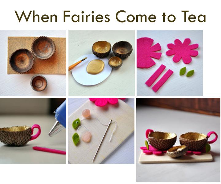 Acorn tea set by Curly Birds