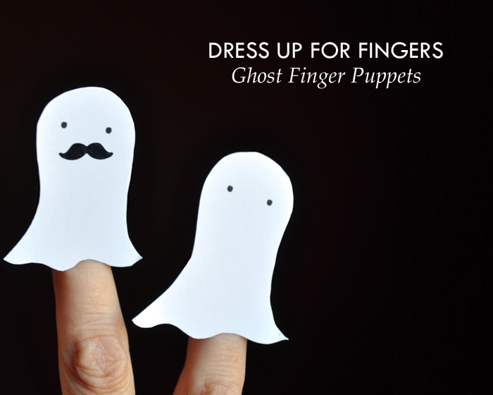 Ghost Finger Puppet by Curly Birds
